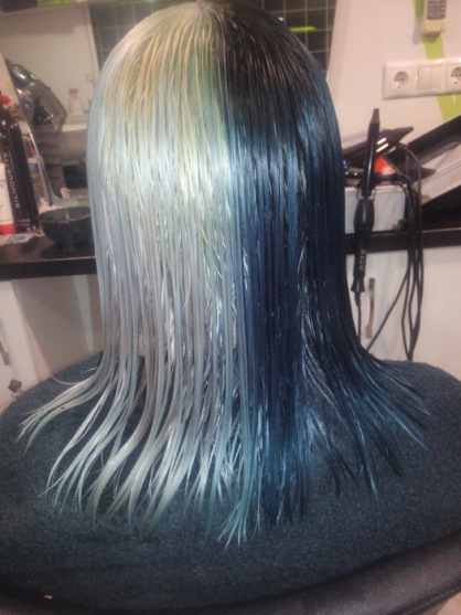 szőke fekete haj